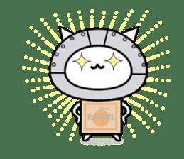 Cat type robot. Cat hand 3 sticker #5738402