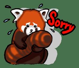"""Red Panda """"Pandy"""" sticker #5745246"""