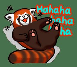 """Red Panda """"Pandy"""" sticker #5745249"""