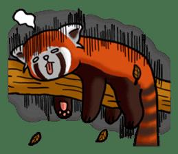 """Red Panda """"Pandy"""" sticker #5745259"""