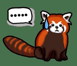 """Red Panda """"Pandy"""" sticker #5745261"""