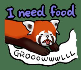 """Red Panda """"Pandy"""" sticker #5745262"""