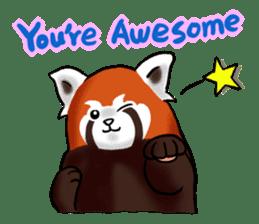 """Red Panda """"Pandy"""" sticker #5745266"""
