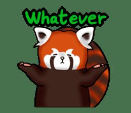 """Red Panda """"Pandy"""" sticker #5745267"""