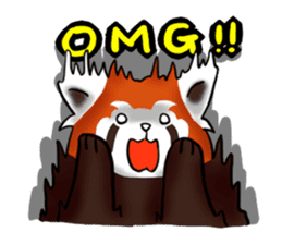 """Red Panda """"Pandy"""" sticker #5745268"""