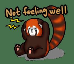 """Red Panda """"Pandy"""" sticker #5745269"""