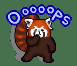 """Red Panda """"Pandy"""" sticker #5745271"""