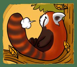 """Red Panda """"Pandy"""" sticker #5745282"""