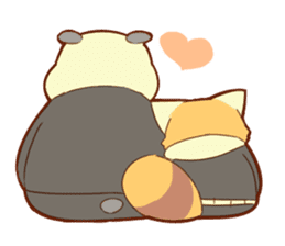 Lesser panda and Panda sticker #5745891