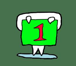 Keshi-Gumlin the goblin of eraser sticker #5748605