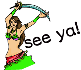 Belly Dancer (English version) sticker #5749399