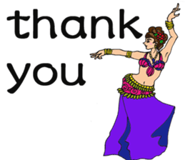 Belly Dancer (English version) sticker #5749404