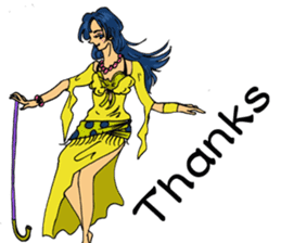 Belly Dancer (English version) sticker #5749411