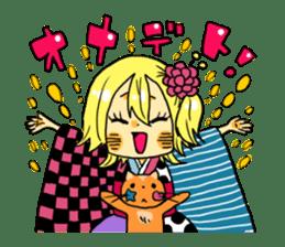 kimono syoko sticker #5749926