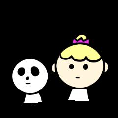 Girl and sometimes panda-kun.