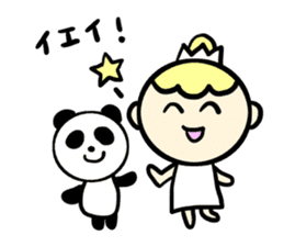 Girl and sometimes panda-kun. sticker #5751375