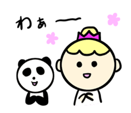Girl and sometimes panda-kun. sticker #5751410