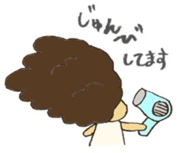 Life of Naturally curly hair people sticker #5751470