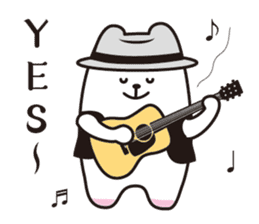 Polar bear sings love songs sticker #5752650