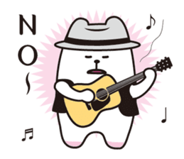 Polar bear sings love songs sticker #5752651
