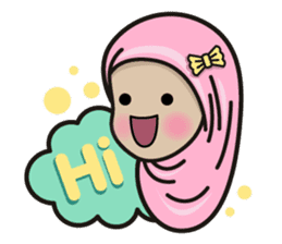 Pastel Hijab sticker #5752892