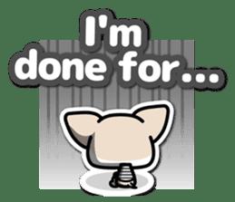 Chihuahua 3D Sticker ( English ) sticker #5759306