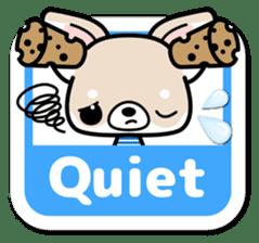 Chihuahua 3D Sticker ( English ) sticker #5759331
