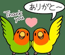 """Peach-faced Lovebird """"Kozakura-chi"""" sticker #5770084"""