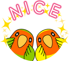 """Peach-faced Lovebird """"Kozakura-chi"""" sticker #5770091"""