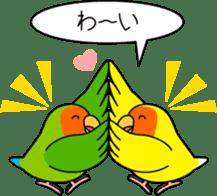 """Peach-faced Lovebird """"Kozakura-chi"""" sticker #5770106"""