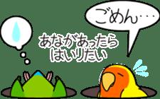 """Peach-faced Lovebird """"Kozakura-chi"""" sticker #5770117"""