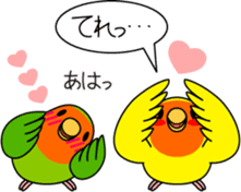 """Peach-faced Lovebird """"Kozakura-chi"""" sticker #5770118"""