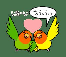 """Peach-faced Lovebird """"Kozakura-chi"""" sticker #5770119"""