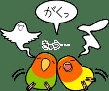 """Peach-faced Lovebird """"Kozakura-chi"""" sticker #5770122"""