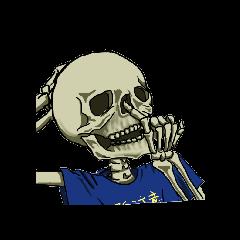 Skeleton sticker