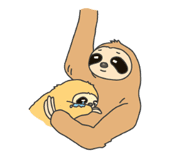 The sloth family sticker #5787915