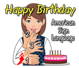 American Sign Language Vol1 By Prasom Rerkpreedapong Sticker 5789453