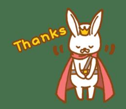 Brave rabbit (EN) sticker #5789728