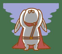 Brave rabbit (EN) sticker #5789733
