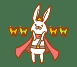 Brave rabbit (EN) sticker #5789749