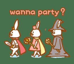 Brave rabbit (EN) sticker #5789752