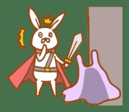 Brave rabbit (EN) sticker #5789753