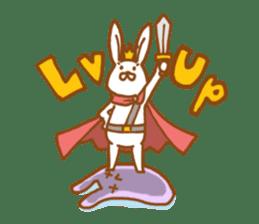 Brave rabbit (EN) sticker #5789755