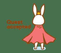 Brave rabbit (EN) sticker #5789758