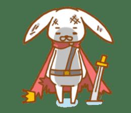 Brave rabbit (EN) sticker #5789760