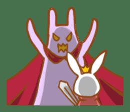 Brave rabbit (EN) sticker #5789761