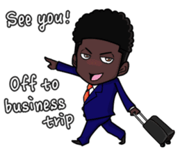 emotion of businessman4 sticker #5796094