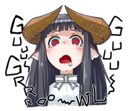 Horned girl's collection sticker #5800045