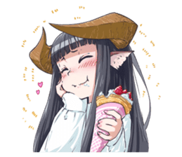 Horned girl's collection sticker #5800054