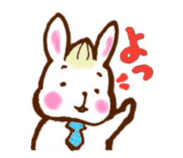 rabit  and cat sticker sticker #5800324